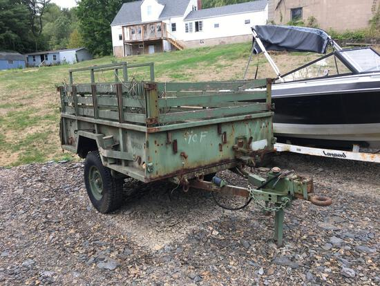 Military Cargo Trailer M101A2 3/4-ton 2-wheel, comes with accessories as shown in pictures and