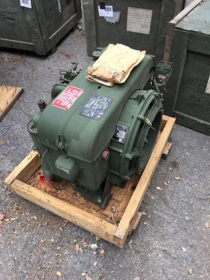 Military Standard Engine 2 Cylinder Air Cooled with shipping crate and manual