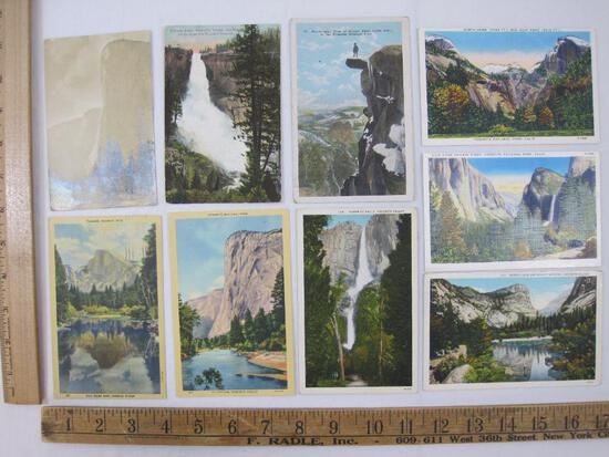 Yosemite National Park Postcards, 1929, 1946 and others