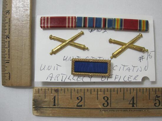 World War 2 Unit Citation, Artillery Officer Insignia