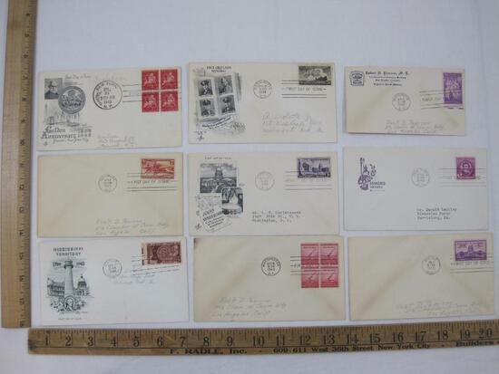 First Day Covers US Postage Stamps includes Golden Anniversary Greater New York City, Four Chaplains