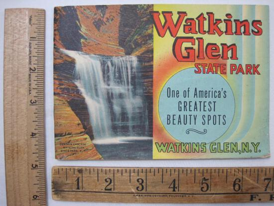 Vintage Illustrated Picture Booklet of Watkin's Glen State Park, Watkin's Glen NY 1948