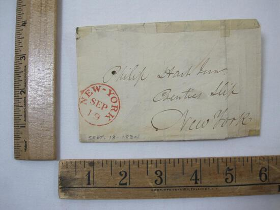 Stampless Cover New York September 18, 1834