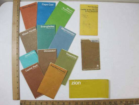 1970's Collection of National Park Maps, Petrified Forest, Cape Cod, Mount Rushmore, Dinosaur