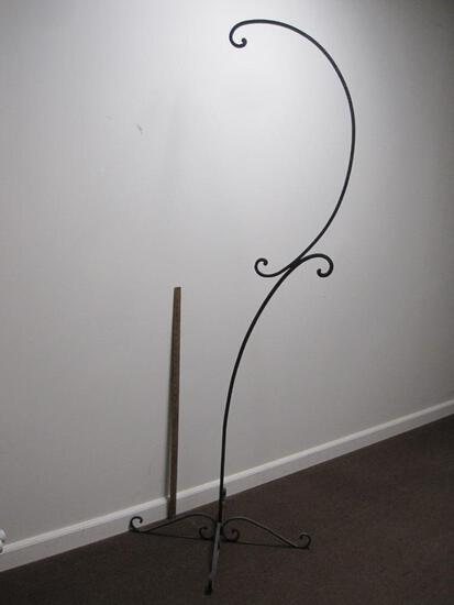 Hanging Stand, Wrought Iron, 6 ft Tall, Great for Plants or Bird Cage