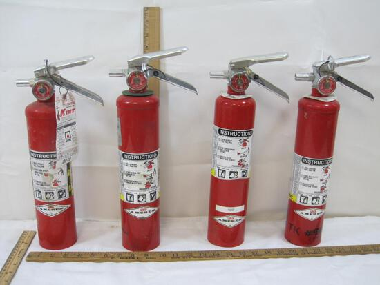 Four Amerex Fire Extinguishers, Not Commercially Certified, 3 Model #B417, 1 #A417842