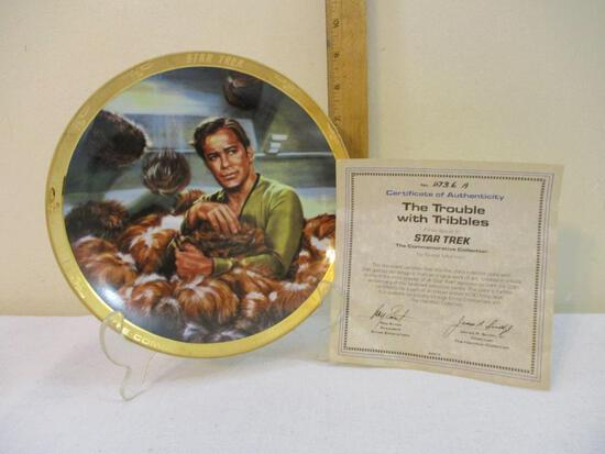The Trouble with Tribbles First Issue Collectible Plate in Star Trek The Commemorative Collection by