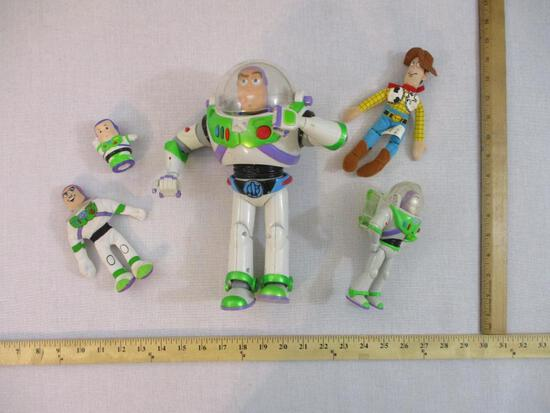 Assorted Toy Story Buzz and Woody Toys and Action Figures, 1 lb 10 oz