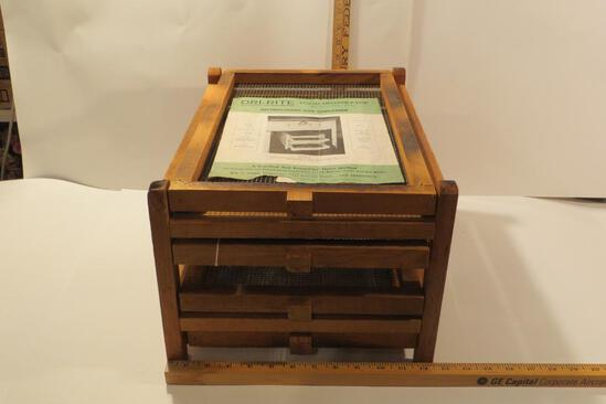 4 Shelf Wooden Food Dehydrator with instructions