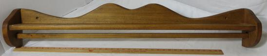 """Wooden Plate Rack with Rod for Linen Display 41 1/4"""" long"""