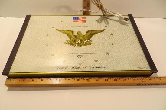Vintage Warming Tray with Bicentennial Eagle