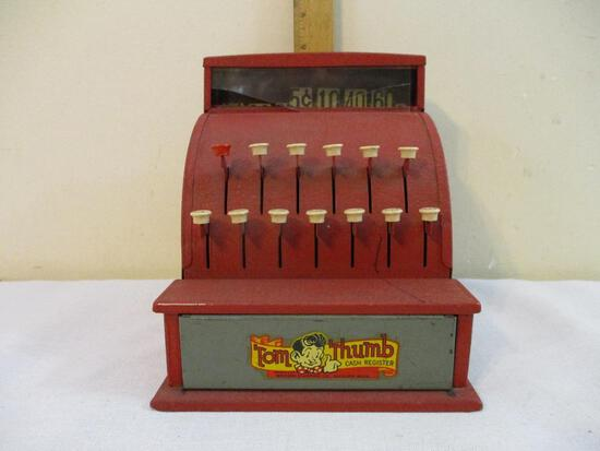 Vintage Tom Thumb Cash Register, Western Stamping Co Jackson Mich, Made in USA, AS IS, 2 lbs 14 oz