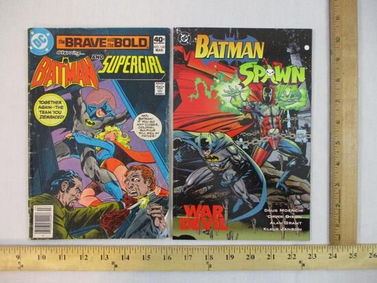 Two DC Batman Comics: The Brave & The Bold No 160 March 1980 and Batman Spawn War Devil 1994, 8 oz