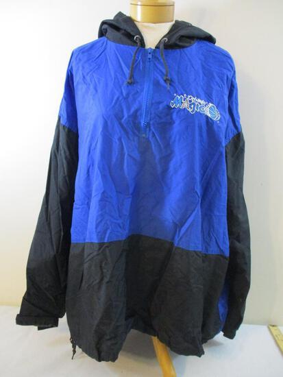 Orland Magic (NBA) Nylon Windbreaker Quarter Zip Jacket, In the Paint Basketball Gear, Size XL, 10