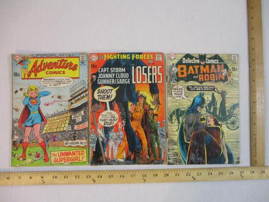 Three DC Comics: Detective Comics Presents Batman and Robin No. 403 Sept 1970, Our Fighting Forces