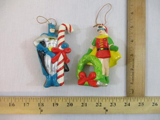 1970s Batman and Robin Christmas Ornaments, 4 oz