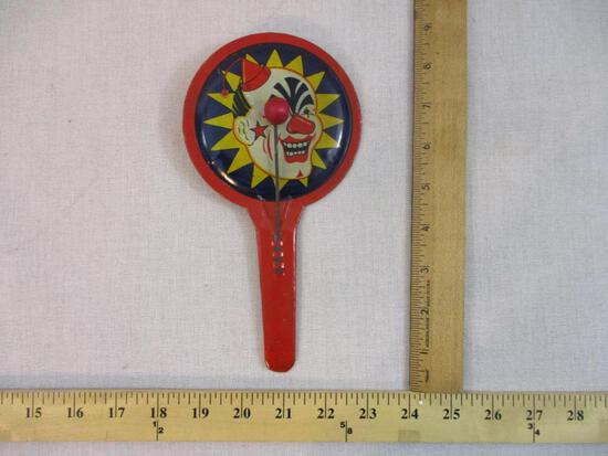 Vintage Tin Toy Noisemaker/Clapper, 2 oz