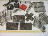 Lot of Metal O Scale Lionel 3-Rail Train Track and Transformers, 12 lbs