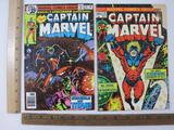 Two Captain Marvel Comic Books: No. 29 November 1973 and No. 59 November 1978, see pictures for