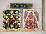 Lot of Vintage Glass Christmas Ornaments from Shiny Brite and more, 1 lb 6 oz