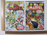 Two Ms. Marvel Comic Books: No. 2 Feb 1977 and No. 4 April 1977, 4 oz