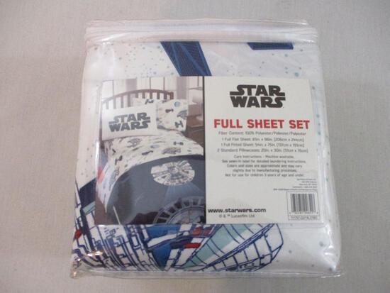 Star Wars Full Sheet Set, new in package, 2 lbs 9 oz