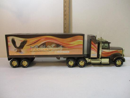 Nylint Pressed Steel Golden Eagle Express Truck and Trailer, 4 lbs 15 oz