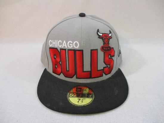Chicago Bulls New Era Hat 7 3/4, 4 oz