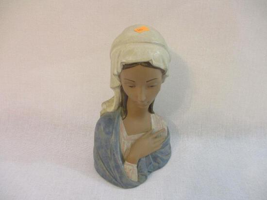 Lladro Matte Madonna Fine Porcelain Figure, made in Spain, 2 lbs