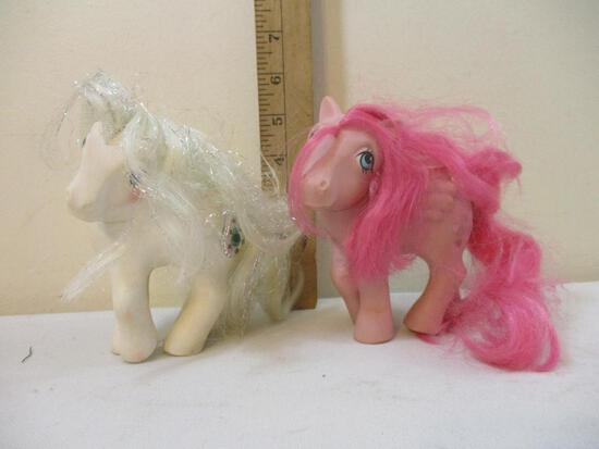Two Vintage 1980s My Little Ponies, 7 oz