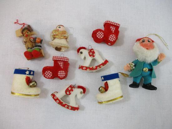 Vintage Flocked Christmas Ornaments and more, 3oz
