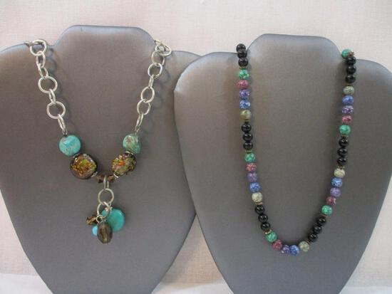 Two Beautiful Stone Necklaces, 6 oz