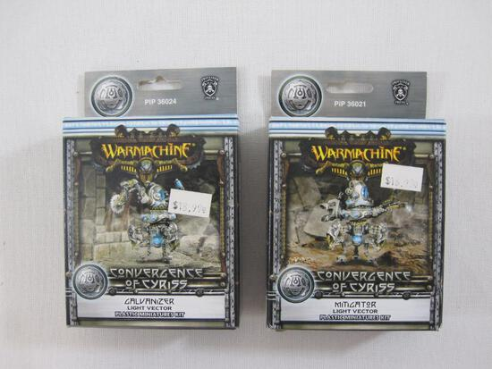 Two NIB Warmachine Convergence of Cyriss Miniatures: Galvanizer Light Vector (PIP 36024) and
