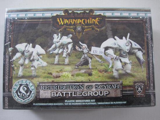 NIB Warmachine Retribution of Scyrah Battlegroup Plastic Miniatures Kit, PIP 35075, sealed