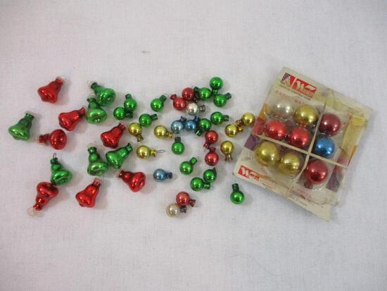 Assorted Glass Miniature Christmas Tree Ornaments, 4oz