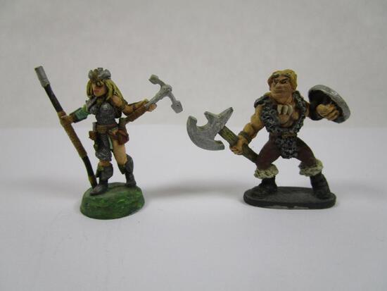 Two Ral Partha Barbarian miniatures, 2oz