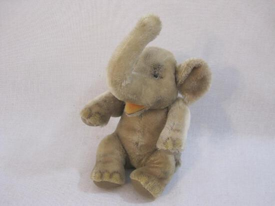 Vintage Mohair Elephant Plush, 12 oz