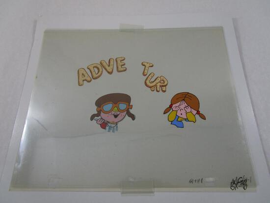 1980s Alpha Bits Cereal Original Animation Artwork Production Cel
