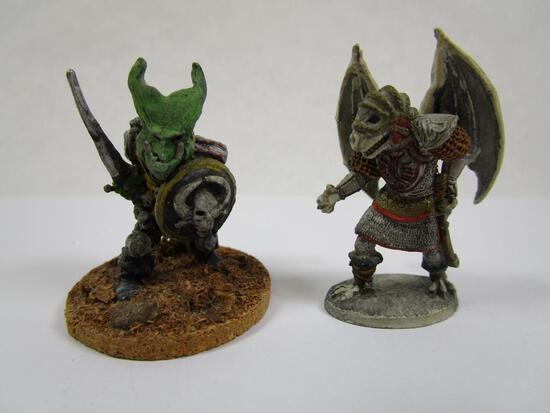 Two Ral Partha Goblinoid miniatures, 3oz
