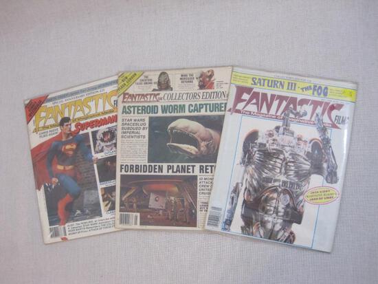 Three Fantastic Films Magazines of Imaginative Media: #16 (Jack Kirby Lord of Light, May 1980), #21