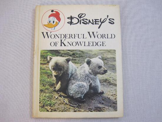 Disney's Wonderful World of Knowledge Hardcover Book, 1971, 1 lb 7 oz