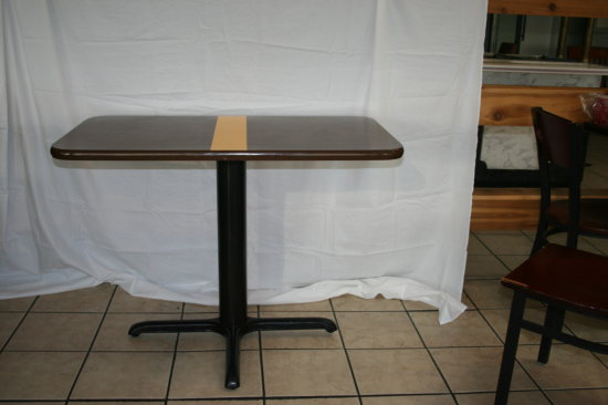 Restaurant Quality pedestal tables with stripe