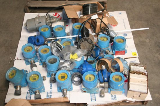 Assorted Gas Meters and Honeywell pneumatic actuator
