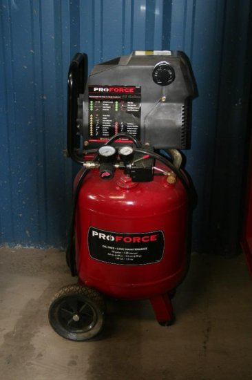 Pro Force 10 Gal 125 PSI compressor