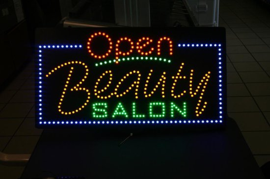 Open Beauty Salon Sign