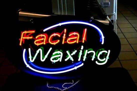 Facial Waxing Neon Sign