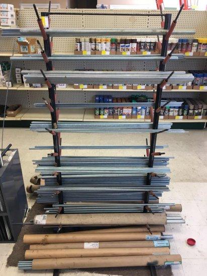 Threaded rod-rack included