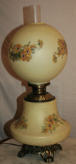 Gas Converted Antique Globe Lamp
