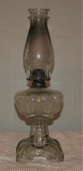 Antique Glass Lamp w/Globe