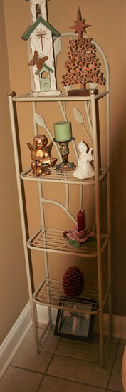 Wine Shelf w/Figurines